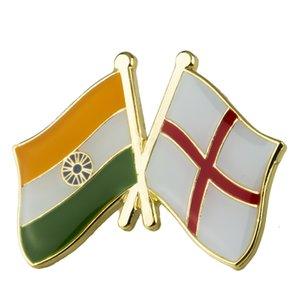 Inde Angleterre amitié insignes icône sac décoration boutons broche pour vêtements xy0341