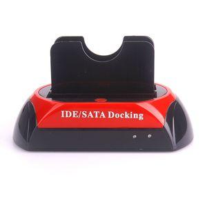 HDD 도킹 스테이션 2.5 인치 3.5 인치 IDE SATA USB 2.0 듀얼 HDD 하드 드라이브 디스크 도킹 스테이션 기본 지원 하드 디스크
