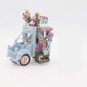 Открытка 3D Ручная Бумажная Резьба Поздравительные Открытки на День Рождения Оригинальная Открытка Цветок Супруга Автомобиль Горячий Продавать 6 5zya j1