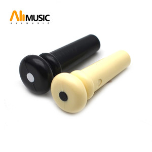 100pcs Alice Plastic 3mm PVC Guitar Strap Button With Black White Dot Black or Ivory