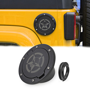 Tapa del depósito de combustible Cráneo Negro Para Jeep Wrangler De 2007 a 2017 Auto Accesorios Exterior ABS metal