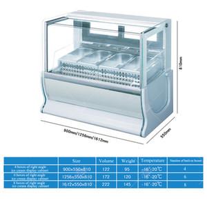 vendita di ghiaccio vetrina crema calda per la bevanda fredda supermercato negozio ristorante porridge di ghiaccio vetrina gelato