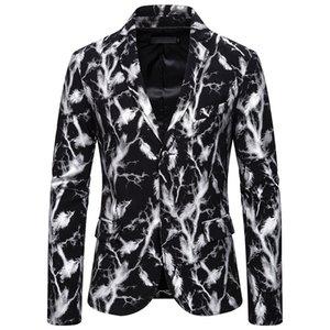Hot Stamping Mens beiläufige Blazer mit V-Ausschnitt Single Button Slim Man Anzug Jacken Mode-Stadiums-Partei Männlich Oberbekleidung