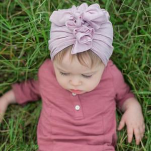 New Baby Candy Цвет морщины Flower ободков дети Hat волосы модных аксессуаров Детей ребенок Hairband