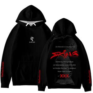 XXXTentacion diseñador para hombre sudaderas Rap cantante 3D Impreso suelta con mangas larga sudadera con capucha para hombre de la moda sudaderas