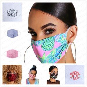PM2.5 Baumwolle Erwachsene Druck Gesicht schützende Schablonen Staubdichtes Anti-Staubmaske atmungsaktiv Nebel Prevention Haze Saliva Mouth-Muffel Abdeckung D42407