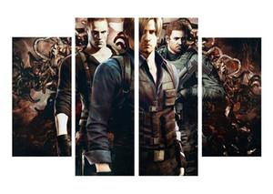 4pcs / set Unframed Biohazard Resident 사악한 3 전사 게임 HD 인쇄 홈 장식에 대 한 캔버스 벽 아트 그림