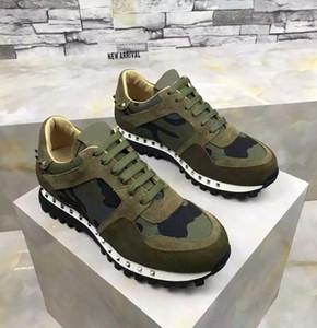 Kamuflaj kadınlar için Erkek ayakkabı kamuflaj kaya koşucu spor ayakkabı ayakkabı çivili süet, erkekler rahat ucuz satış EU36-46 Toptan Ucuz Ayakkabı damızlık