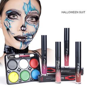 WholesaleParty Halloween Set Makeup Facial Pintura Matte Lip Gloss Com duração de face hidratando Creme Corporal Pintura