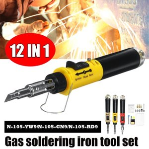 Gas Soldering Iron 12 in 1 Pen Type Auto Ignition Butane Electric Soldering Iron Set Welding Tool Torch Cordless Solder