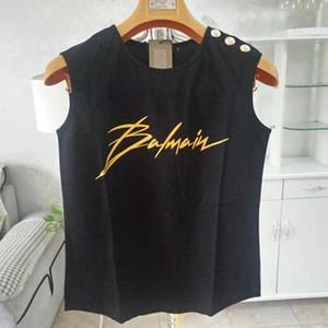 Balmain Femmes Designer T-shirts Débardeur Balmain femmes Designer Vêtements Tops manches courtes femmes Vêtements Taille S-L