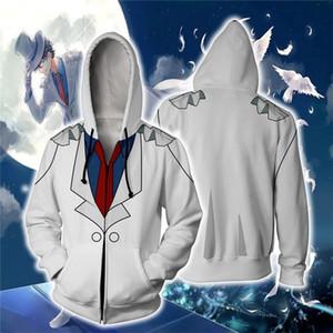 애니메이션 탐정 코난 의상 까마귀 운동복 남성 Kudou 신이치 코난 의류 재킷 최고의 남성 지퍼 후드 스웨터