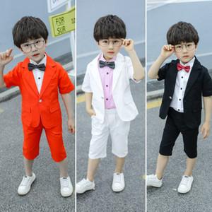 Costume Blazer pour enfants Big Boys Costume Performance Piano coréenne New Flower Boy Petit Blazer + veste + short costume trois pièces