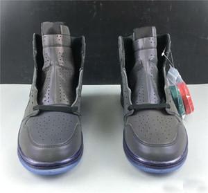 1 al por mayor zapatos de baloncesto de los zapatos zoom Miedo alta de diseño reflexivo Negro y verde trébol rojo del equipo universitario R2T camaleón 3M Chaussures zapatillas de deporte