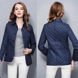 2018 women fashion england short thin cotton padded coat high quality brand designer jacket for women size S-XXL #19010 free shipping