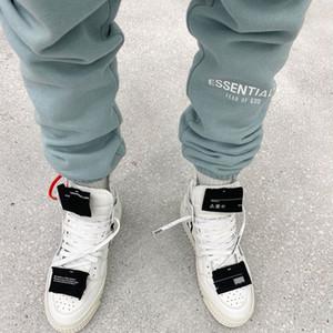 3M Refelcitive Mens Sweatpants Essential SİS Erkek Pantolon Şeker Renk Harf Nakış Uzun Pantolon Ücretsiz Kargo