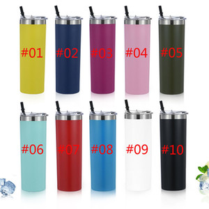 New 20oz Skinny Wine Tumbler Stainless Steel Tall Cup Vacuum Double Wall Straight Cups Insulated Beer Coffee Mug