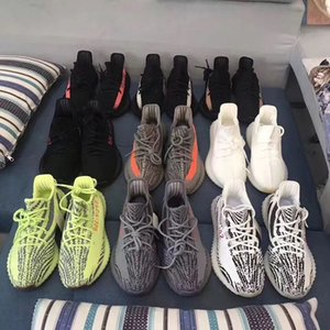 Mens Boost 350 V2 Sneakers Static Semi Frozen Yellow Cream White 2.0 Women Kanye West Designer Sports Running Shoes Size36-46