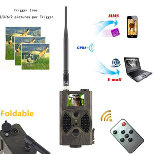 2G GSM MMS SMTP 사냥 트레일 카메라 셀룰러 이동 12MP 1080P 사진 트랩 와일드 카메라 HC300M 무선 야생 동물 감시