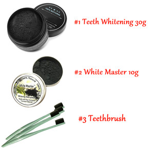 2019 Hot Newest All Natural and Organic Activated Charcoal Teeth Cleaning Tooth and Gum Powder + toothbrush set Total teeth Whites 30g