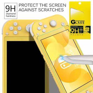 perakende paket içinde Nintendo Anahtarı Lite 9H temperli cam HD çizilmeye karşı Cam Ekran Koruyucu 100pcs / lot için