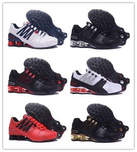 NIKE 0SHOX Avenue 803 2019 alto Qualtiy Avenida 803 # PU de los hombres zapatos corrientes de tenis de baloncesto zapatillas de deporte respirable Zapatos Casual aire Trainer IO15