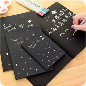 28 Sheets A4 A5 A6 Sketchbook Diary Drawing Painting Graffiti BlackPaper Ketch Book Notebook School Supplies