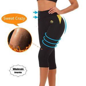 Ningmi Sıcak Pantolon Karın Kontrol Külot Zayıflama Kısa Neopren Ter Vücut Şekillendirici Egzersiz Bel Eğitmen Butt Kaldırma Tayt Kapriler Y19070201