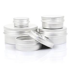 Boş Alüminyum Dudak Balsamı Konteynerler Kozmetik Krem Kavanoz Kalay El Sanatları Pot Şişe 5 10 15 30 50 100g JXW490