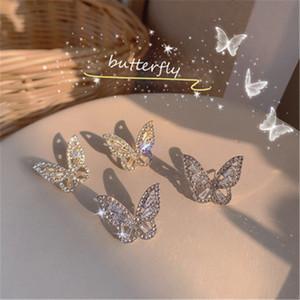 Japão e Coréia do Sul Best vendendo novos brincos com brincos de borboleta de diamante Comércio atacadista de acessórios europeus e americanos