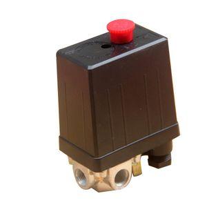 HobbyLane 220V 20A Interruptor de presión del compresor de aire Interruptor de válvula de control de bomba de aire de 4 puertos