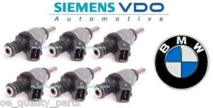 Set Of 6 OE Original Genuine BMW Siemens VDO Fuel Injectors 3 E46 5 E60 2.0 2.5