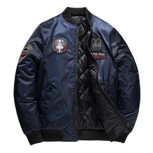 Mens Bomber Jacket hiver chaud Fashion Casual Veste Pure Color Zipper Outwear Manteau Tops Veste d'hiver Homme Chaquetas Hombre