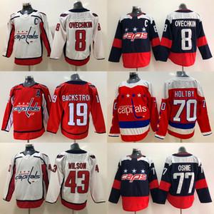 8 Alex Ovechkin Jersey Washington Capitals 19 Nicklas Backstroom 70 Braden Holtby 43 Tom Wilson 77 T.J. Oshie Hokey Formaları