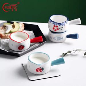 Sucre peint à la main en céramique Bol Petit miel Pot Pot décoratif Pot à lait Mignon Cuisine Container Porcelaine Décor Café Accessoires