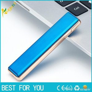 Ultra-thin windproof rechargeable metal lighter heat wire can repalce mini tungsten cigarette USB lighter