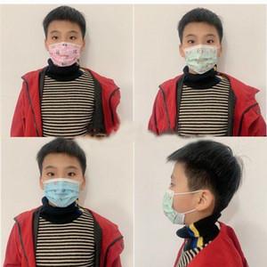 Kinder dick Einweg-Anti-Verschmutzung Mund Gesichtsmasken Junge Mädchen Cartoon Drei-Schicht Vlies Maske Kinder Staubdichtes Breath Einzelhandel