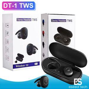 DT-1 TWS Wireless Mini Bluetooth-Kopfhörer für Xiaomi Huawei Mobil Stereo-Ohrhörer Sport Ohr-Telefon mit Mic Tragbares Ladebox