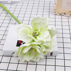 Kaffir Lily Artificial Flower Clivia Cloth Plastic Cement Simulation Flowers Wedding Decorate Blue Red Factory Direct Sales 7 7qh C1