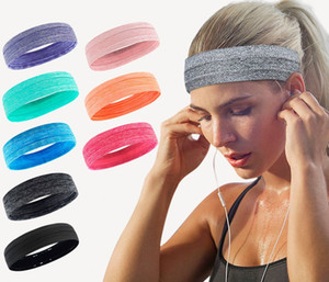 Sports sweatproof headbands yoga sport for women and men fashion Logo Elastic Headbands Outdoor Running Sweatbands