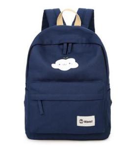 2019 neue Frauen Casual Bag koreanische Leinwand Umhängetasche weibliche Junior High School Studentin Tasche Wolke Leinwand Rucksack 03