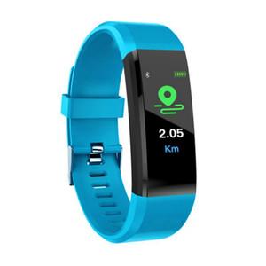 Móviles pulsera inteligente Fuente de la fábrica ID115plus monitor de ritmo cardíaco inteligente pulsera Bluetooth Smart reloj podómetro rastreador de ejercicios para Andriod