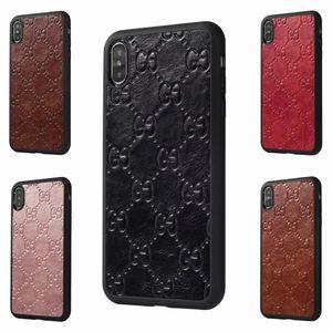 Für iphone x xs max xr marke designer handy case für iphonex 6 6s 7 7 plus 8 8 plus pu leder zurück shell cover