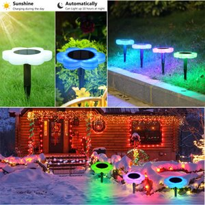 Outdoor Solar Power LED Light Lily Flower Lamp for Yard Garden Lawn Pathway Landscape Decorative Night Light