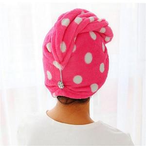 25x62 cm Dame Magic Dry Hair Cap Quick Dry Handtuch Schöne Trocknen Badetuch Weichen Kopf Wickeln Hut make-Up Kosmetik Handtücher