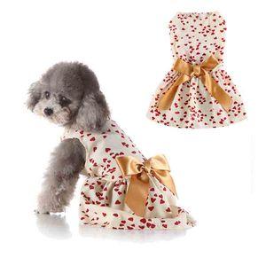 Pet Dogs Apparel Dogs Gauze skirt Bowknot Dress