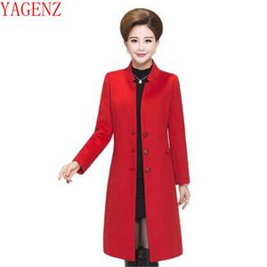 YAGENZ Orta Yaşlı kadınlar Qiu dong kıyafet kaşmir ceket Yeni ürün Gevşek yüksek dereceli Kadın giyim güzel kaşmir ceket KG411