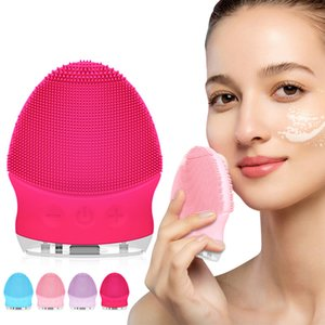 Sonic Face Cleansing Brush Silicone Facial Cleaner Facial Cleansing Brush Deep Pore Cleaning Face Massage Mini Face Care Tool
