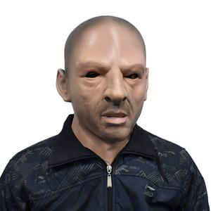 Realista Máscara del viejo hombre Látex Disfraces cabeza calva masculina disfraz disfraces de Halloween
