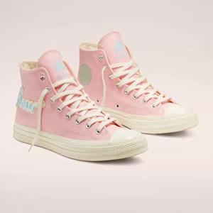 New Classic Golf Le Fleur x 70 Chuck chenilla para mujer para hombre de la estrella skateborad los zapatos de moda de alta GLF 1970 lona rosado de las zapatillas de deporte Tamaño 35-44